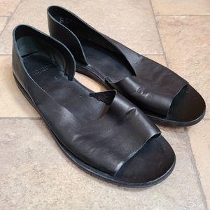 Officine Creative Black Leather D'Orsay Sandals